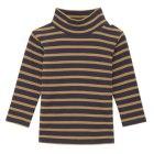 보더하이넥 긴소매 티셔츠 CAMEL