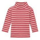 보더하이넥 긴소매 티셔츠 DARK RED