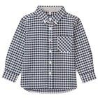 오가닉 코튼 · 옥스포드 셔츠 · 베이비 NAVY CHECK