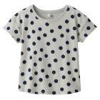 드롭 숄더 반소매 티셔츠 LIGHT SILVER GRAY*PATTERN