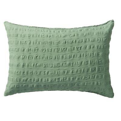 베개 커버 · 50×70 · 그린 · 마면 격자 서커
