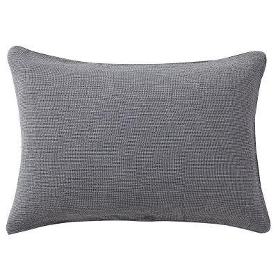 베개 커버 · 43×63 · 네이비 미니체크 · 삼중 가제