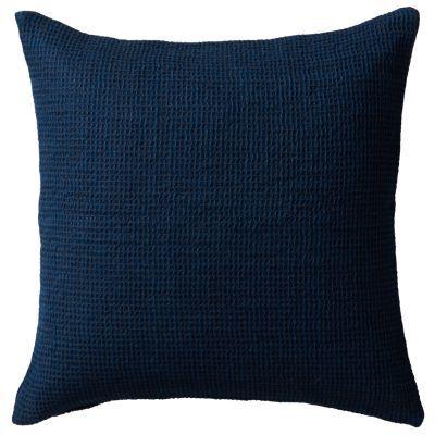 쿠션 커버 · 43×43 · 블루*네이비 · 마 면 와플