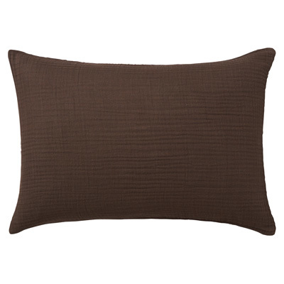 베개 커버 · 50×70 · 브라운 ·  삼중 가제
