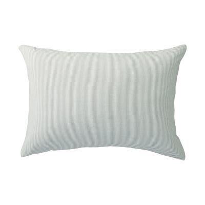 베개 커버 · 50×70 · 그레이 스트라이프 · 워싱면