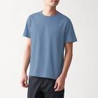 인도 면 저지 · 크루넥 반소매 티셔츠 LIGHT BLUE