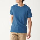 슬러브 저지 · 크루넥 반소매 티셔츠 BLUE