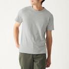 슬러브 저지 · 보더 반소매 티셔츠 GRAY BORDER