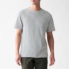 슬러브 저지 · 보더 반소매 티셔츠 GRAYxPATTERN