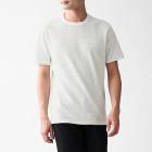 슬러브 저지 · 보더 반소매 티셔츠 OFF WHITExBORDER