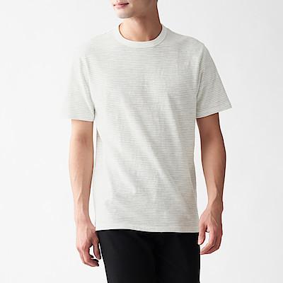 슬러브 저지 · 보더 반소매 티셔츠