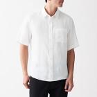 프렌치 리넨 워싱 · 반소매 셔츠 WHITE