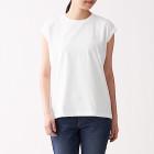 인도 면 저지 · 슬리브리스 티셔츠 WHITE