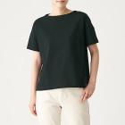 태번수 저지 · 보트넥 와이드 티셔츠 BLACK