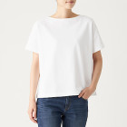 태번수 저지 · 보트넥 와이드 티셔츠 WHITE