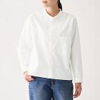 신강면 핀 옥스포드 · 스탠드칼라 셔츠 OFF WHITE