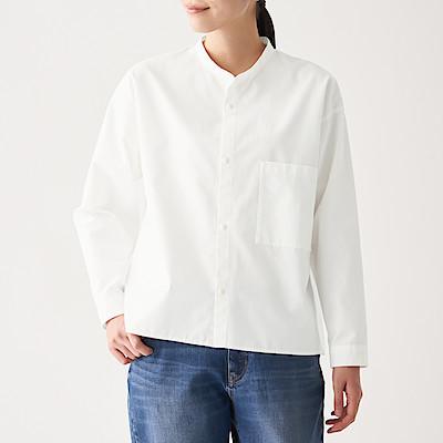 신강면 핀 옥스포드 · 스탠드칼라 셔츠
