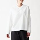 면 혼방 스트레치 · 풀오버 셔츠 OFF WHITE