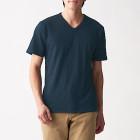 슬러브 저지 · V넥 반소매 티셔츠 DARK NAVY
