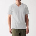 슬러브 저지 · V넥 반소매 티셔츠 LIGHT GRAY