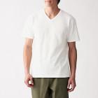 슬러브 저지 · V넥 반소매 티셔츠 OFF WHITE