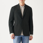 스트레치 서커 · 재킷 BLACK