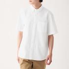 신강면 서커 · 버튼다운 반소매 셔츠 WHITE