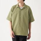 신강면 옥스포드 · 오픈 칼라 반소매 셔츠 SMOKY GREEN