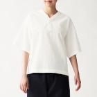 면 포플린 · 풀오버 반소매 셔츠 OFF WHITE